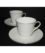 2 Royal Doulton Amulet Pattern H4998 Cup & Saucer 549568 Fine Bone China... - $39.59