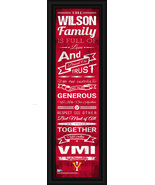 Personalized VMI 24 x 8 Family Cheer Framed Print - $39.95