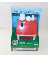 New Vintage Peanuts Digital ALARM CLOCK Snoopy's Doghouse by Salton - $72.51