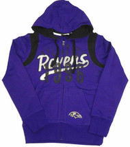 Junior Women's Baltimore Ravens Hoodie Elite Full Zip Sweatshirt NFL Football