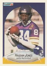 1990 Fleer #100 Hassan Jones - $0.50