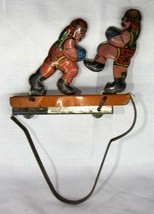 Antique Litho Printed Boxer Tin Toy Old Mechanical Squeeze Clicker Tin Toy - $102.10