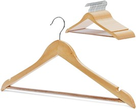 StorageWorks 20-Pack Solid Wood Coat Hangers, Wooden Clothes Hangers, Na... - $41.80