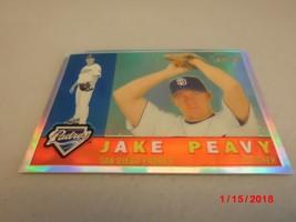 2009 Topps Heritage Chrome Refractors #'d 374/560 Jake Peavy -San Diego Padres- - $3.96
