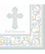 Blessed Day 36 First Communion Luncheon Value Pack Napkins - $8.35