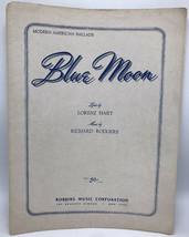 "Vintage sheet music-rodgers & hart - ""blue moon"" - robbins body 1943 - $6.91"