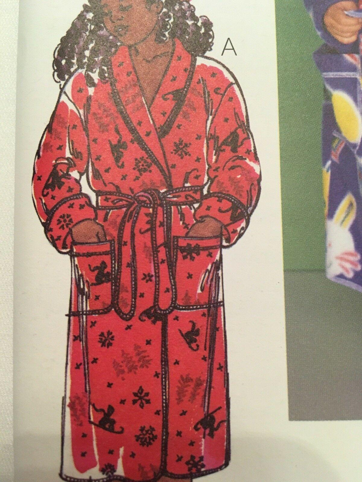 Kwik Sew 2654 Wrap Robes Children Boy Girl Sewing Pattern Size XS-XL Uncut image 3
