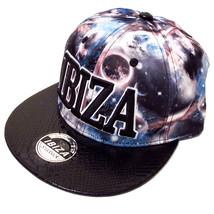 Ibiza Snapback Cap Cosmic Universe Trucker Hat Navy Faux Leather Space - $42.12
