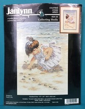 "Janlynn Girl Counting Shells Counted Cross Stitch 12"" x 16"" Nancy Cole K... - $10.95"
