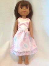 Wellie Wishers Spring Easter Egg dress fit American Girl 14 doll clothes... - $11.99