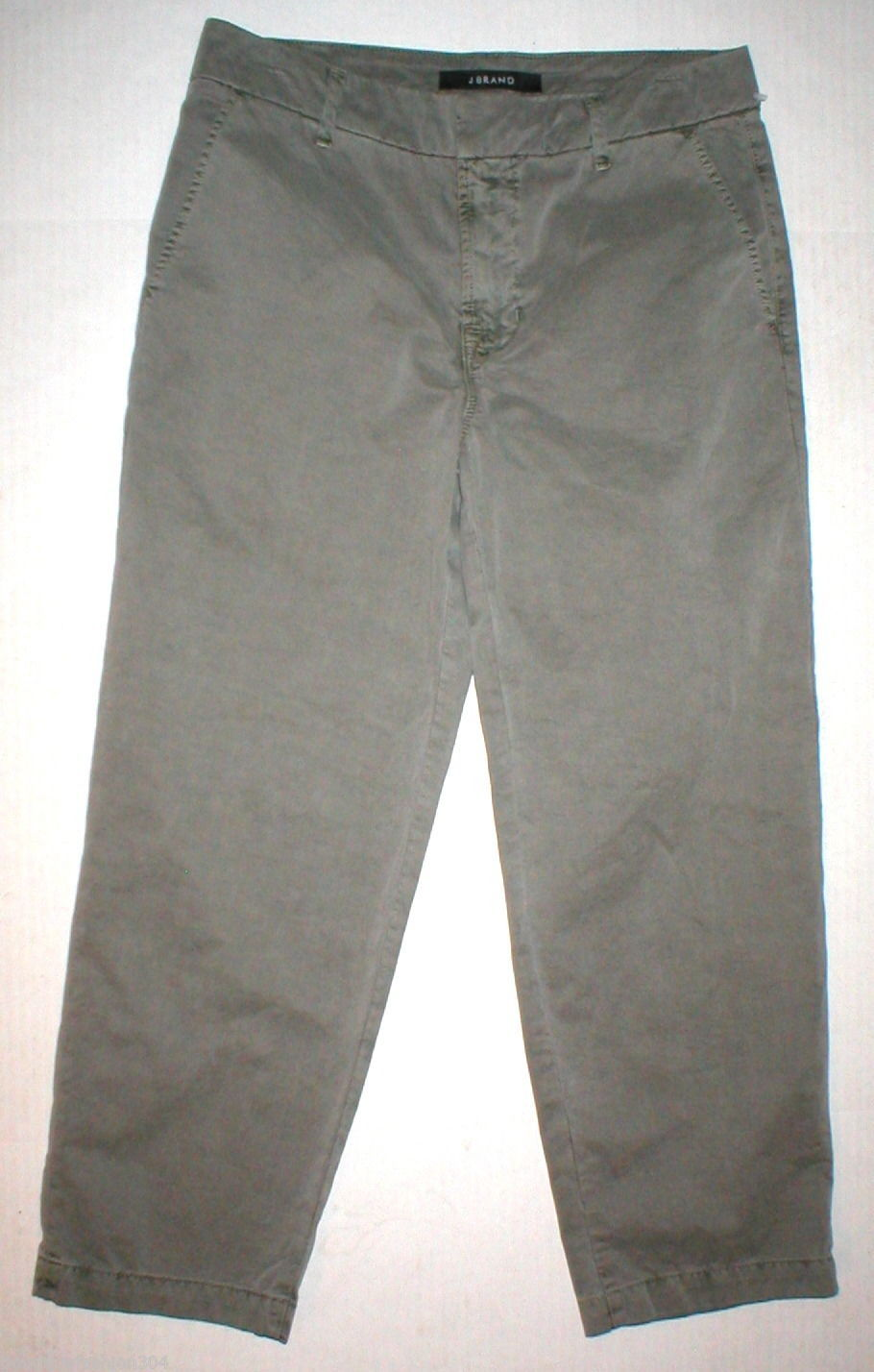 New J Brand Jeans Relaxed Womens Parker Vin Fort 25 Chino Pant Army Green Cotto