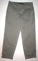 New J Brand Jeans Relaxed Womens Parker Vin Fort 25 Chino Pant Army Green Cotto image 1