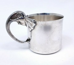 Reed & Barton Silver Plate Figural Elephant Handle Childs Cup Baby Cup 466 - $42.62