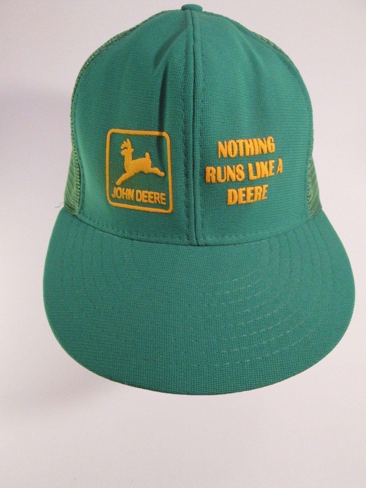 e5ddff76b89 57. 57. Previous. Vintage JOHN DEERE Nothing Runs Like 80s US Crown Mesh  Trucker Hat Cap Snapback