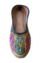 Women Shoes Jutties Indian Handmade Leather Ballerinas Embroidered Mojari US 7  - £24.26 GBP