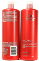 2 Bottles Wella Professionals 33.8 Oz Brilliance Conditioner For Colored Hair - $34.99