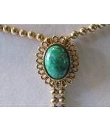 "Vintage Avon ""Ming Green Adjustable Necklace"", 1973 - Faux Jade, Tassels - £13.07 GBP"