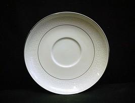 Wakefield by International Silver Saucer Plate White Design Platinum Trim Verge - $8.90