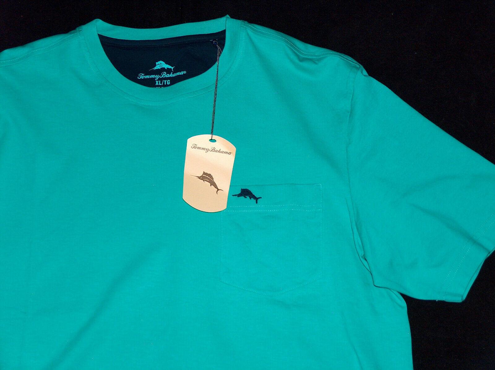Nuevo con Etiqueta Tommy Bahamas Talla XL Cave Verde Marlin Único Bolsillo