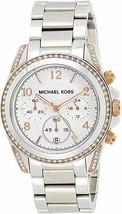 Michael Kors Women's Watch Ladies Steel Bracelet Chronograph White Dial MK5459 - $224.00