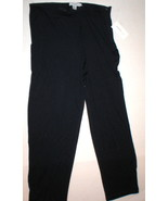 NWT New Womens M Emanuel Ungaro Comfy Lounge Pants Silk Navy Blue Designer - $420.00