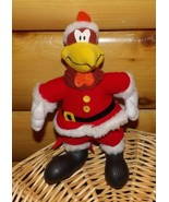 "Looney Tunes Foghorn Leghorn Plush 10"" Chicken Hawk Dressed as Santa - $11.79"