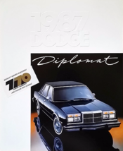 1987 Dodge DIPLOMAT sales brochure catalog US 87 Salon SE - $8.00