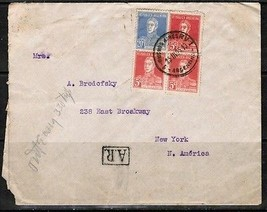 ARGENTINA COMMERCIAL REGISTERED COVER to New York (23/11/25)  (OS-230) - $11.83