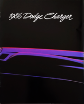 1986 Dodge CHARGER brochure catalog US 86 Omni 024 SHELBY 2.2 - $8.00