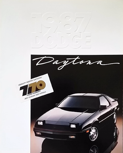 1987 Dodge DAYTONA brochure catalog US 87 Pacifica SHELBY Z