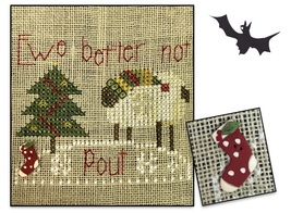 POLKA DOT STOCKING BUTTON with FREE Ewe Better Not Pout chart Shepherd's... - $8.00