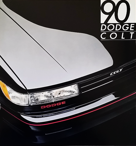 Primary image for 1990 Dodge COLT sales brochure catalog US 90 GL GT Mitsubishi