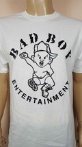 New Style Writing  Bad Boy Entertainment White T-Shirt / P Diddy Puff Sean  - $14.99+