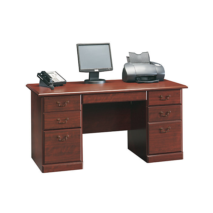 Sauder Heritage Hill 60 Quot Executive Desk Classic Cherry W