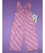 Fera Frosty Bib Pants Toddler Girls Insulated Waterproof Ski Free Hat Pi... - $66.28