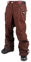 Sessions Switch Pants Womens Waterproof Snowboard Ski Recco Brown S - $94.71