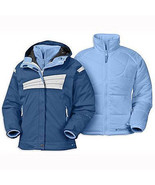 Columbia Luxe Time Jacket Girls 3 in 1 Ski Snowboard Blue Liner Coat Blu... - $85.24
