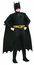 Batman Dark Knight Rises Child's Deluxe Muscle Chest Batman Costume with... - $36.52