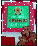 Christmas Calories Don't Count cross stitch chart Amy Bruecken Designs - $7.20