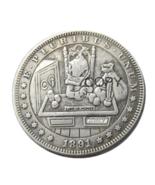 HB(69)US Hobo 1891 Morgan Dollar Skull Zombie Skeleton Silver Plated Cop... - $7.99
