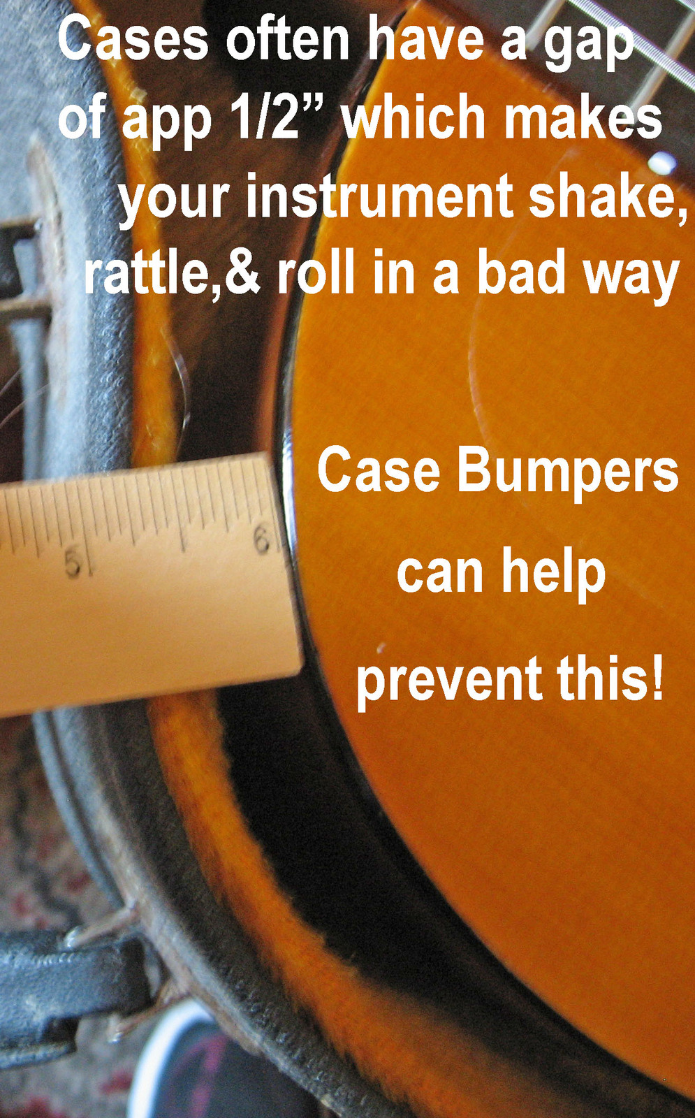 Guitar Case Bumpers/Help Minimize Your Guitar Wiggling Inside It's Case!/Irises