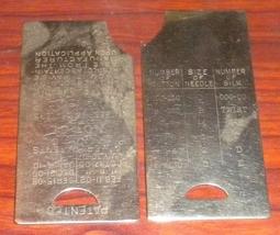 Free Vibrating Shuttle Slide Plates Pair 1910 Patented Nice Working Shape - $22.50