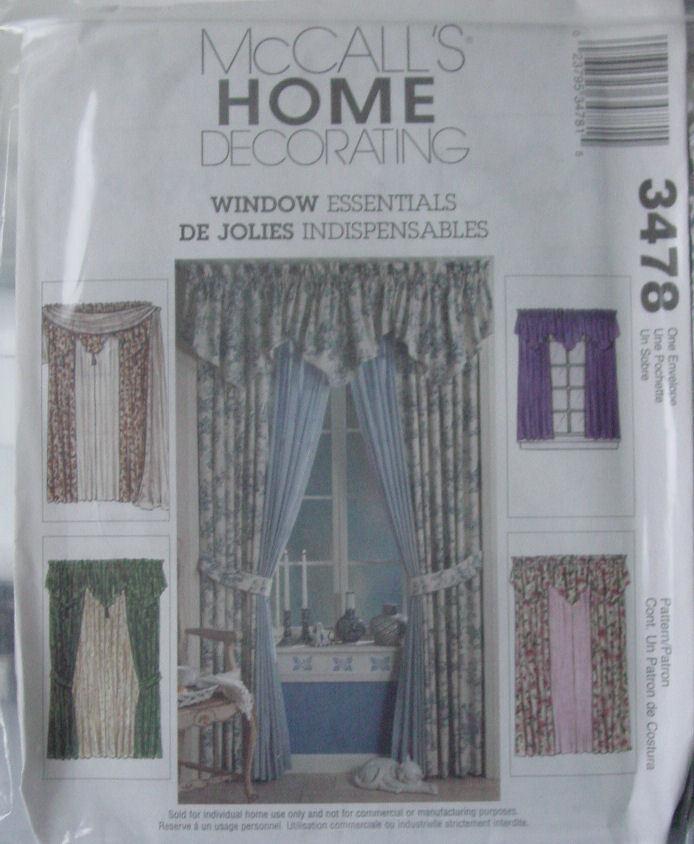 Pattern 3478 Window Treatments