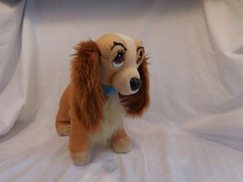 "Lady and the Tramp Walt Disney World Plush Vintage 15"" Blue Collar - $26.41"