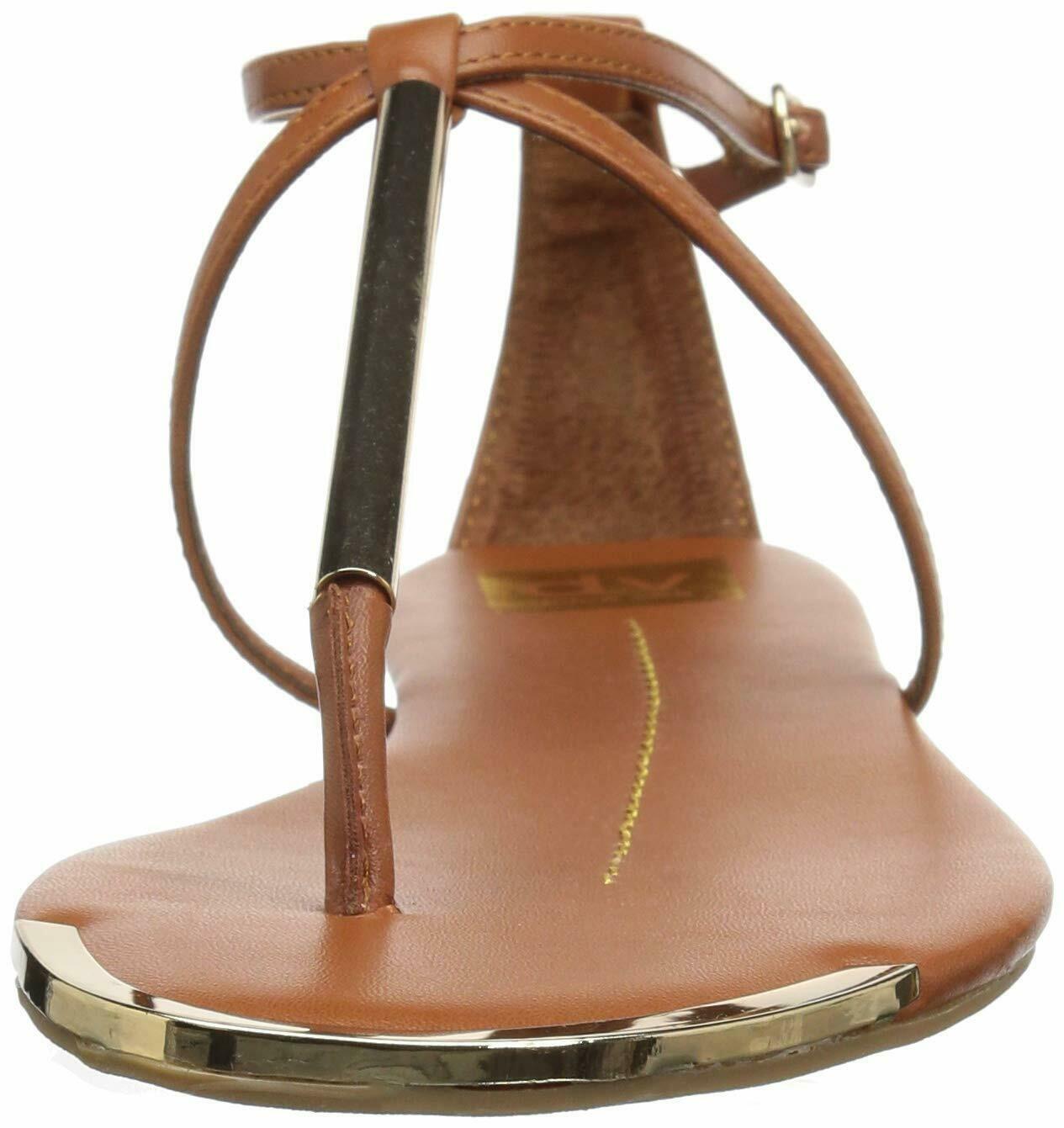 DV by Dolce Vita Women's Archer Thong Sandal 11 Cognac Stella image 2