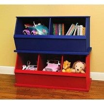 Toys Organizers Kids Room Storage Boxes Cubby Furnitures Cupboard Set Bl... - $199.90