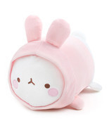 "Molang Lieing 13"" PINK Plush Stuffed Doll Cushi... - $34.64"