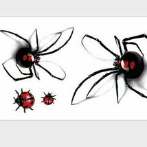 Black Spider 3d Waterproof Temporary Tattoo Stickers - One Sheet image 6