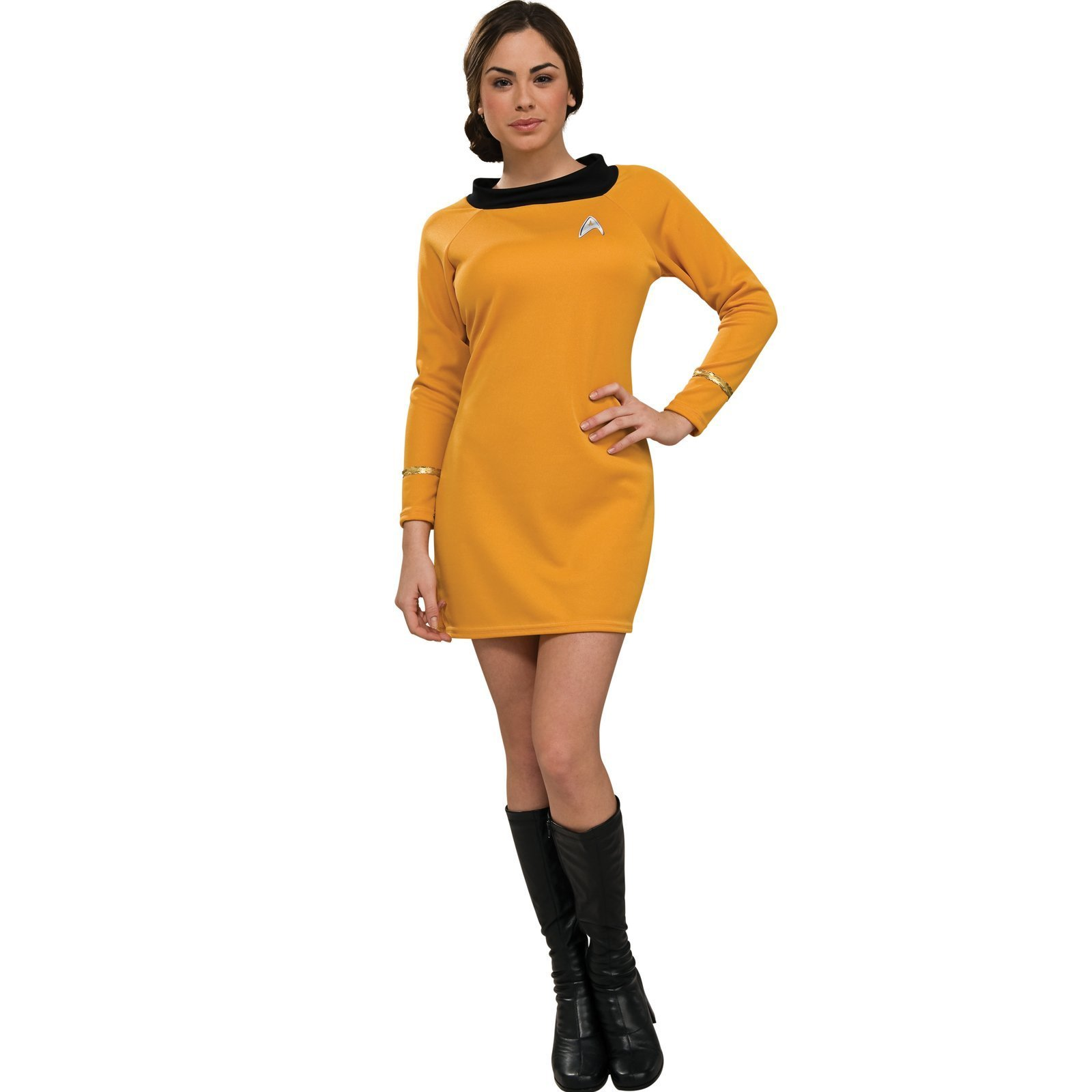 Rubies Costumes 180028 Star Trek Classic Gold Dress Deluxe Adult Costume - Go...
