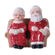 4.75 inches Mr. and Mrs Claus Christmas Magnetic Salt and Pepper Shaker ... - $12.61